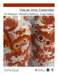 Fall 2010 Visual Arts Calendar - Miami University School of Fine Arts