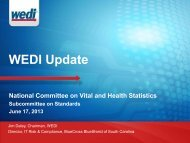 Jim Daley, WEDI - National Committee on Vital and Health Statistics