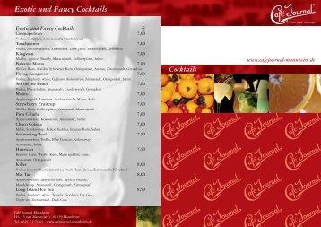 Exotic und Fancy Cocktails - Café Journal