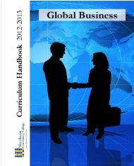 Global Business Brochure - Westchester Community College