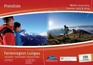 Allgemeine Informationen - Ferienregion Lungau