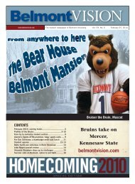 2/25/2010 - The Belmont Vision
