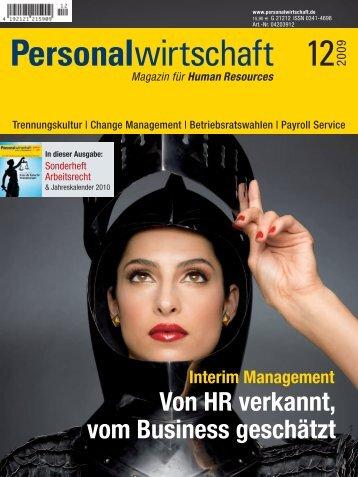 Personalwirtschaft 12 2009