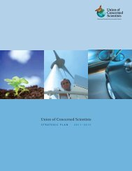 Strategic Plan 2011-2015 - Union of Concerned Scientists