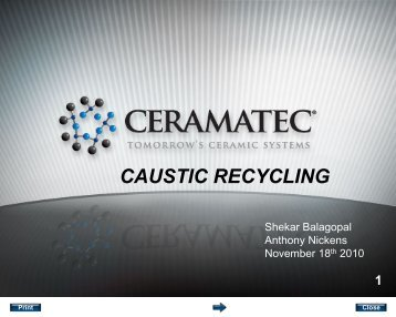 CAUSTIC RECYCLING