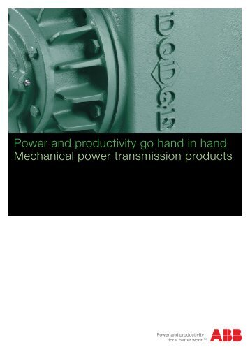 Power and productivity go hand in hand Mechanical power ...
