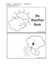 Weather :: Little Book # 1 -- Blank (bw) - Kinder Printables