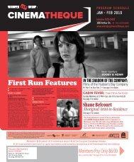 First Run Features - Winnipeg Film Group