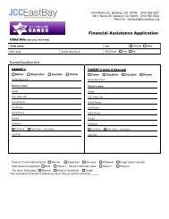 Financial Assistance Application - JCC East Bay