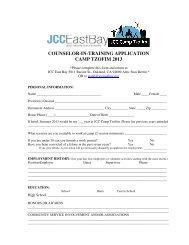 (CIT) Application - JCC East Bay