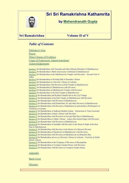 Kathamrita Volume II - Swami Vivekananda