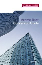 Stikeman Elliott: Income Trust Conversion Guide