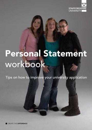Personal Statemnent Workbook - Gosford Hill School