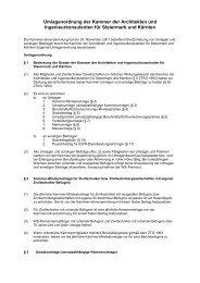 Umlagenordnung der Kammer der Architekten und ...