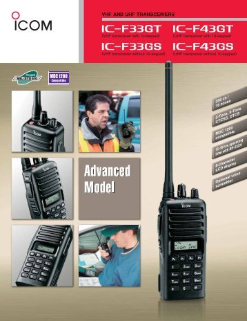 LMR_IC-F33_43GT_GS_MDC Brochure.pdf - Icom Australia