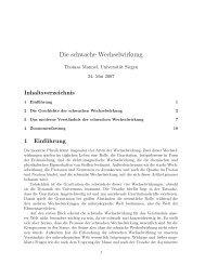 Die schwache Wechselwirkung - Theoretische Physik 1 ...