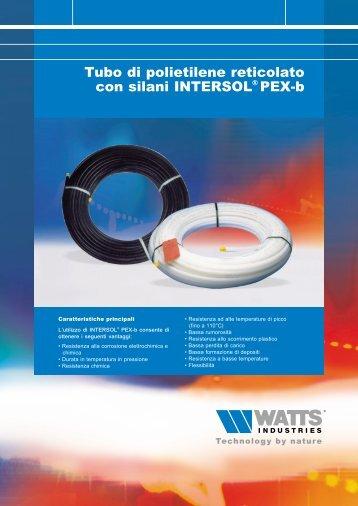 Tubo in polietilene reticolato con silani INTERSOL ... - Watts Industries