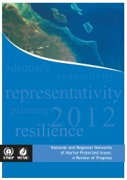 National and Regional Networks of Marine Protected Areas - UNEP