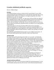 Licenties, inleidende juridische aspecten