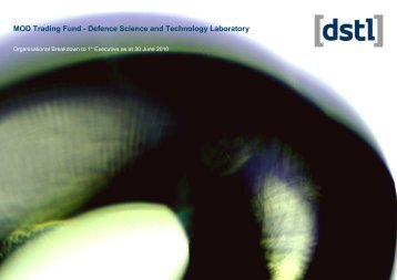 MOD Trading Fund - Defence Science and Technology ... - Dstl