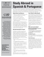 Study Abroad in Spanish & Portuguese - Learning Abroad Center ...