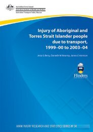 Injury of Aboriginal and Torres Strait Islander people due to transport ...