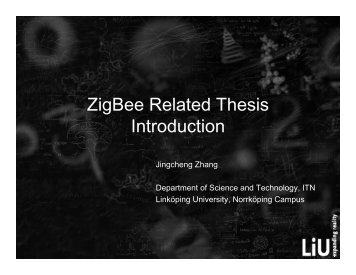 ZigBee Related Thesis Introduction - Department of Science and ...