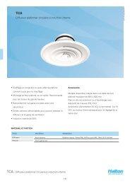 Diffuseur plafonnier circulaire á induction interne - Halton