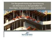 Baugewährleistungs-Versicherung - Pantaenius