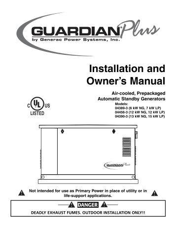 generac corepower 7kw owners manual