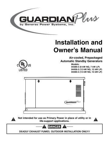 Generac model 5714 manual
