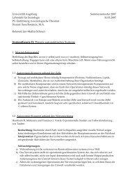 Theorie autopoietischer Systeme - Universität Augsburg