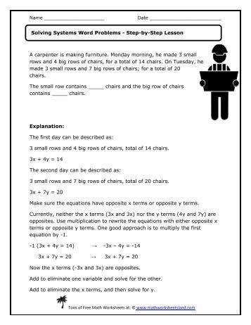 Multiplication and Division Word Problems Independent - Math ...