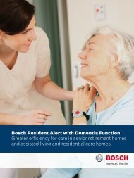 Resident Alert System Brochure - Bosch Security Systems