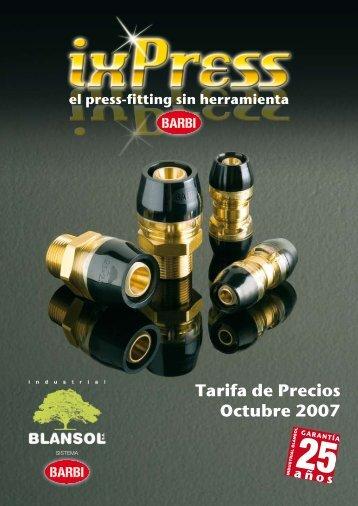 Tarifa de Precios Octubre 2007 - Caloryfrio.com