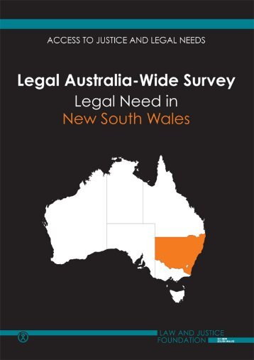 LAW Survey New South Wales Full Report - Law and Justice ...