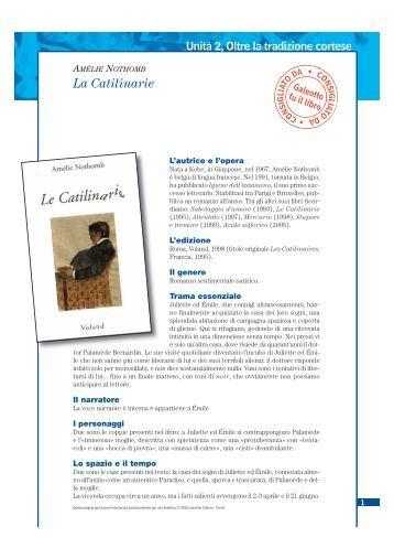 Amélie Nothomb - La Catilinarie - Loescher Editore