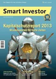 Kapitalschutzreport 2013 Kapitalschutzreport 2013 - Smart Investor