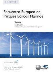 Encuentro Europeo de Parques Eólicos Marinos - Apecyl