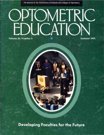 Summer 1995, Volume 20, Number 4 - Association of Schools and ...