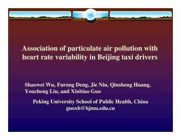 Association of particulate air pollution with heart rate variability in ...