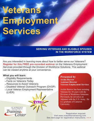 Veterans Employment Services - Department of Commerce