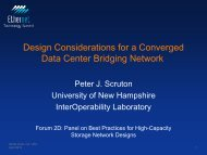 Design Considerations for a Converged Data Center Bridging Network