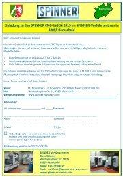 Einladung zu den SPINNER CNC-TAGEN 2013 im SPINNER ...