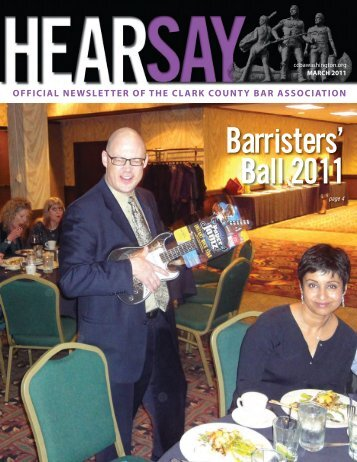 official newsletter of the clark county bar association