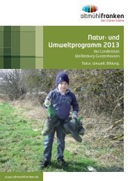 Das Natur- und Umweltprogramm 2013 - Altmühlfranken