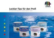 Lackier-Tips für den Profi - Caparol