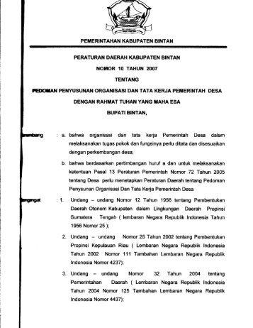 Undang undang Nomor 32 Tahun 2004 tentang - Mahkamah ...