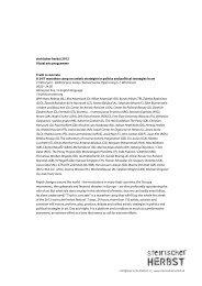 steirischer herbst 2012 Visual arts programme Truth is concrete A 24 ...