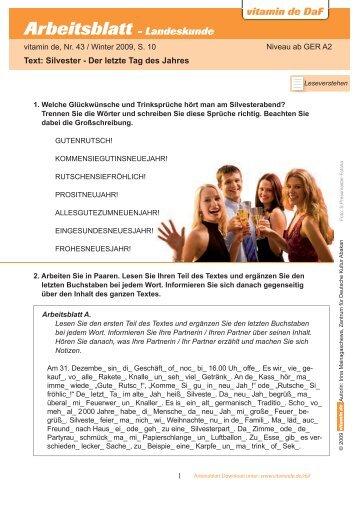 Arbeitsblatt - Kunst - Deutsch lernen mit vitamin de